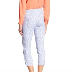 Crop Paisley Pant with Laceup Detail
